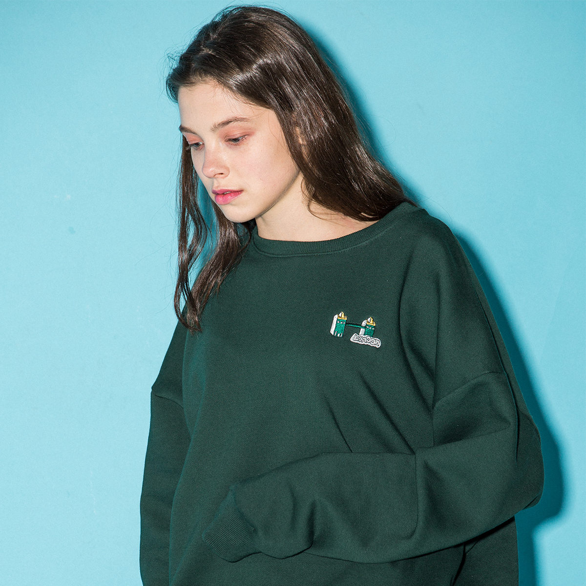 (UNISEX)BU CITY SWEATSHIRTS_GN