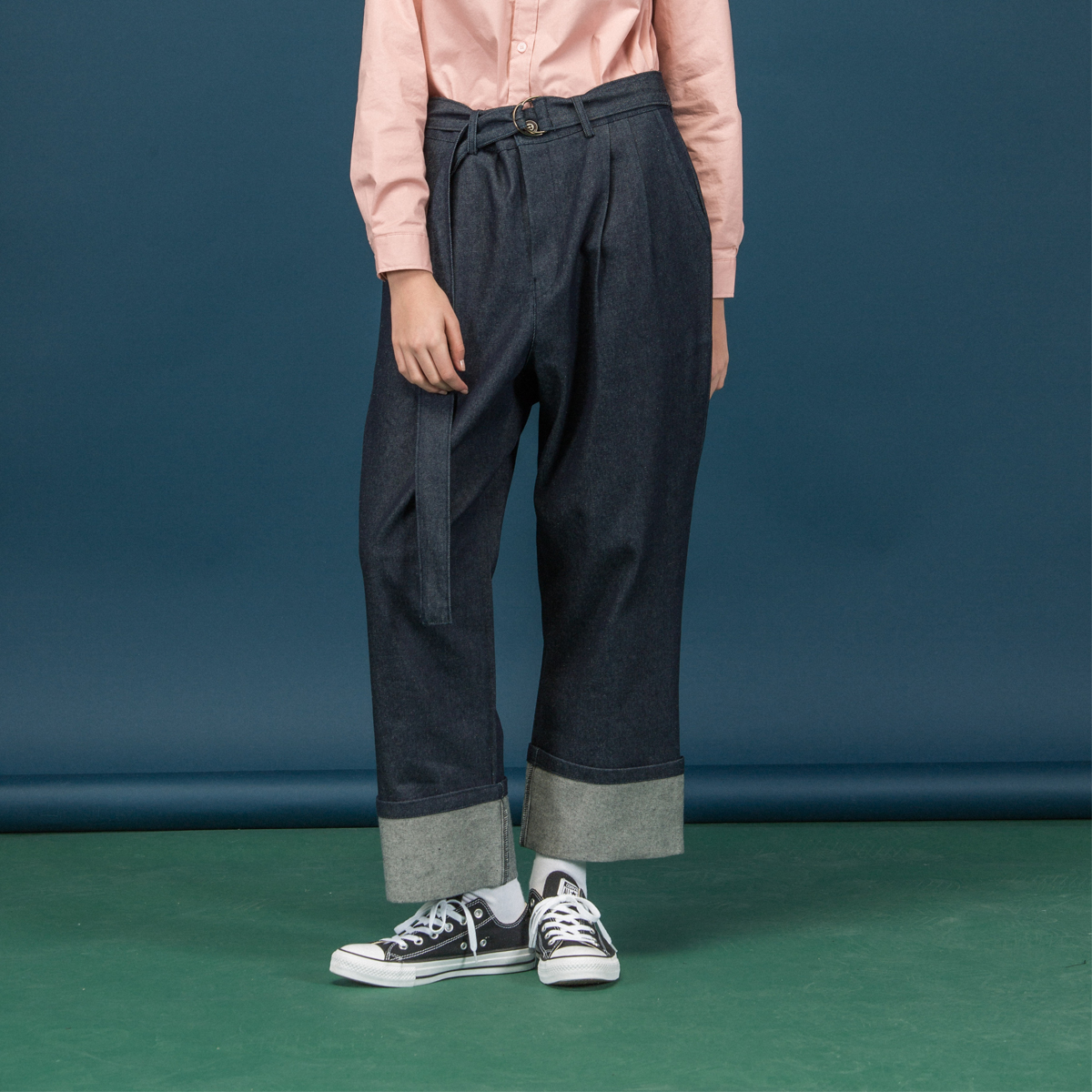 (UNISEX)SC D ring PANTS_NV