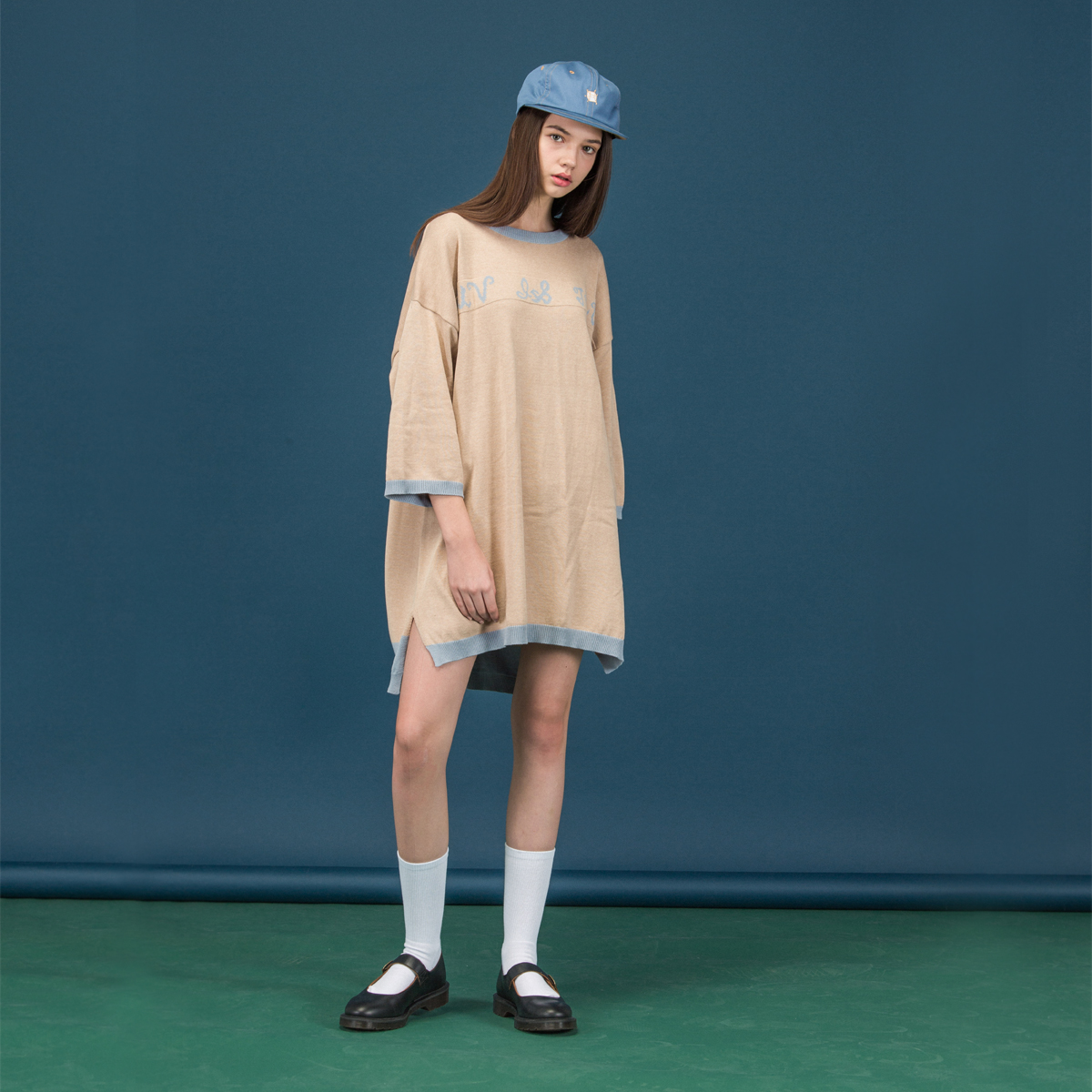 (UNISEX)SC LOGO KNIT_BE