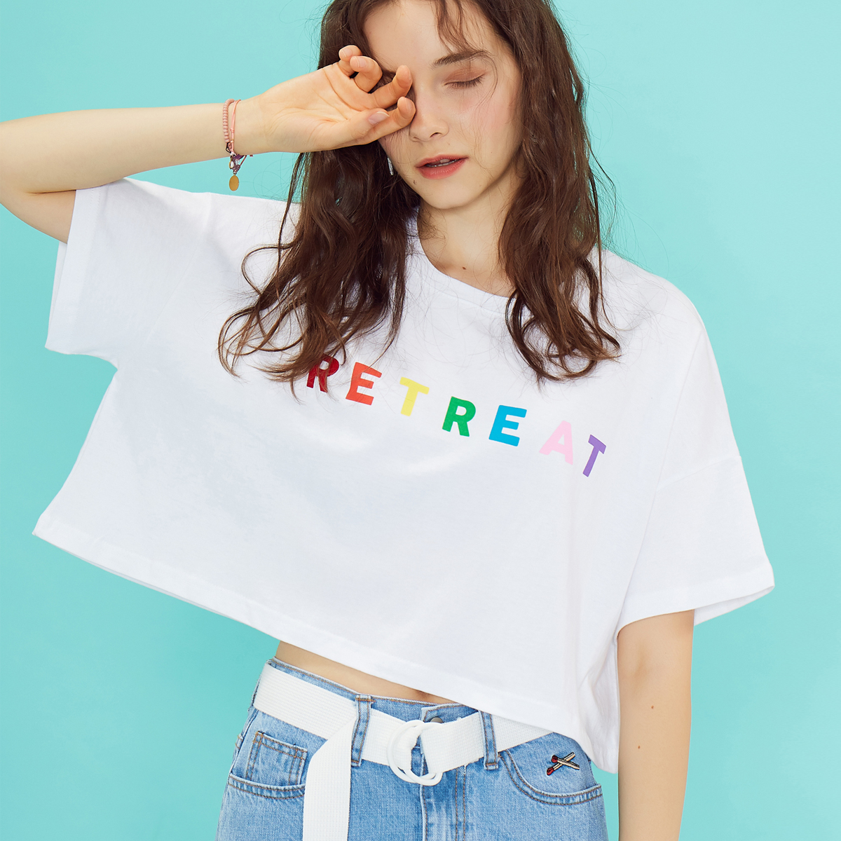 RE RETREAT CROP TOP(WHITE)