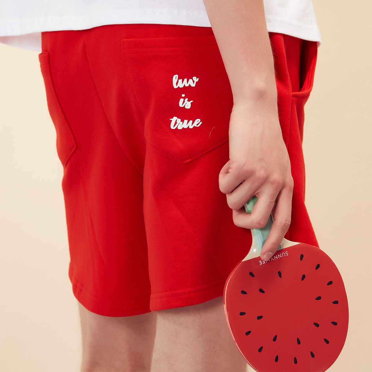 (UNISEX)RE SHORTS(RED)