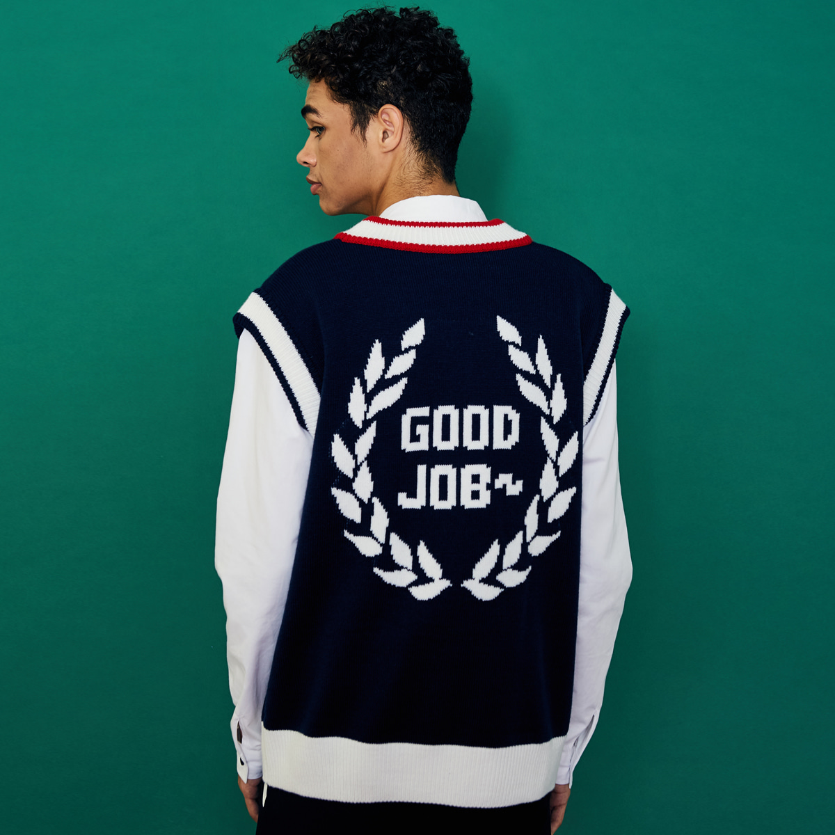 (UNISEX)SD GOODJOB VEST(NAVY)