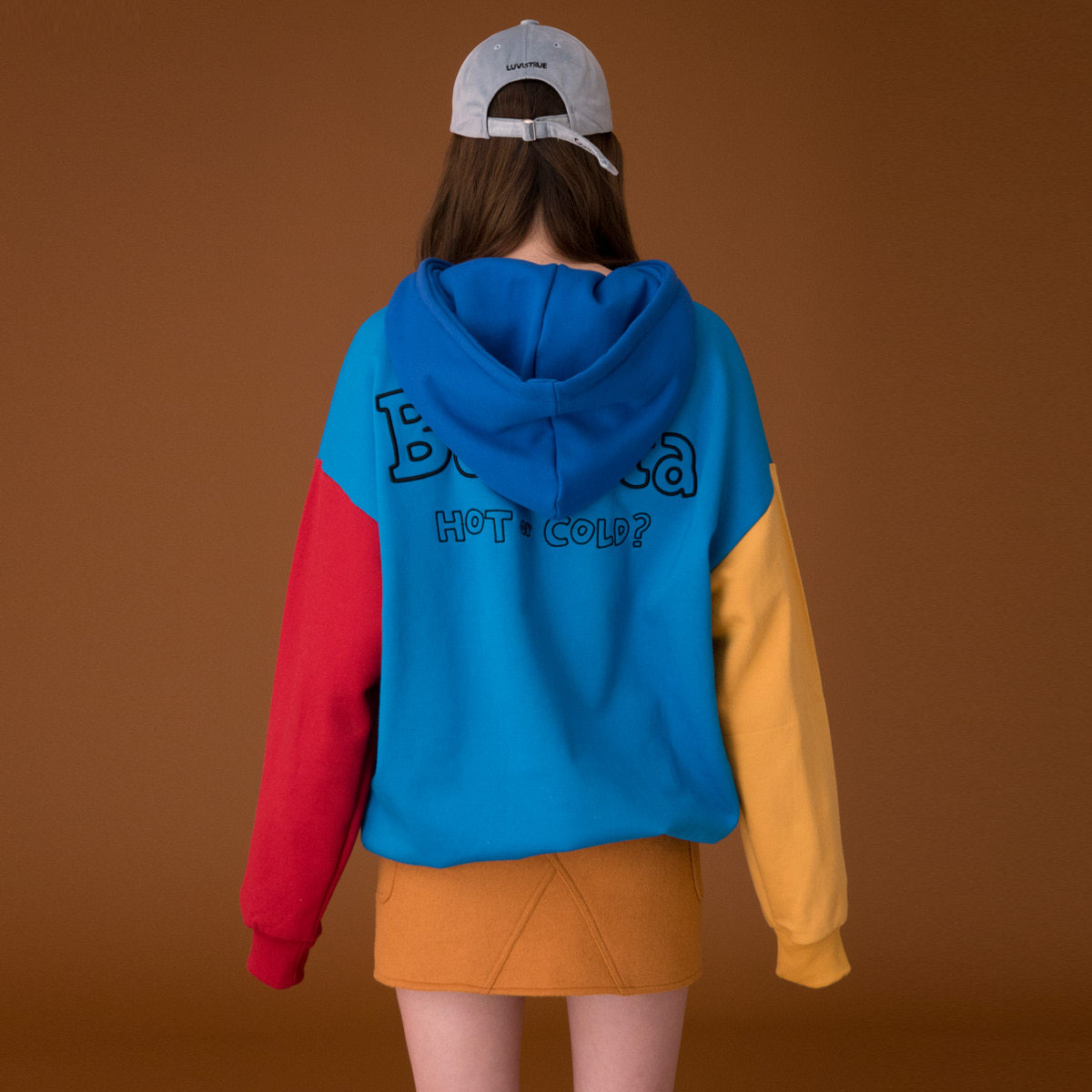 (UNISEX)CE COLOR HOODY_BL