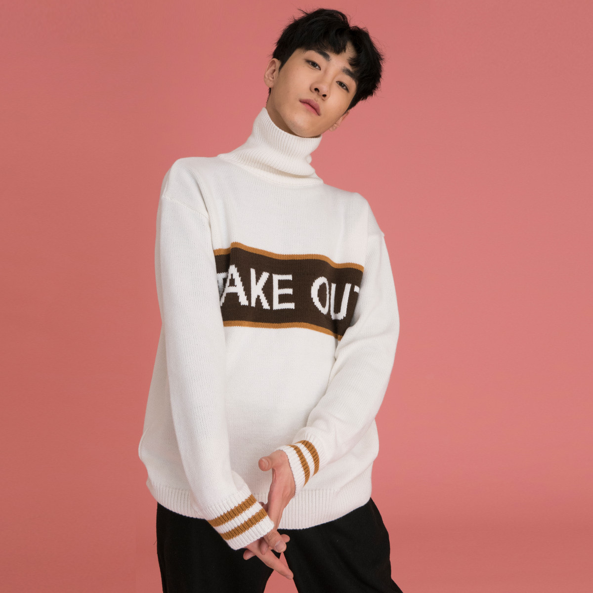 (UNISEX)CE TAKE OUT KNIT_BR