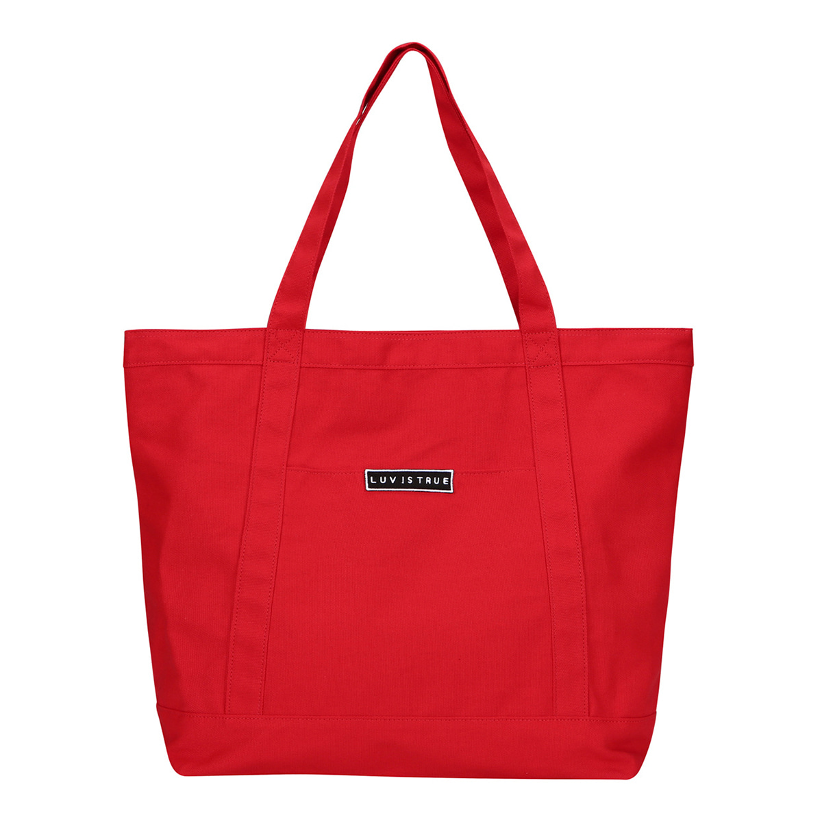 (UNISEX)BG LOGO TOTE BAG(RED)