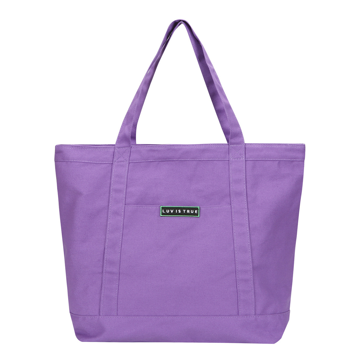 (UNISEX)BG LOGO TOTE BAG(PURPLE)