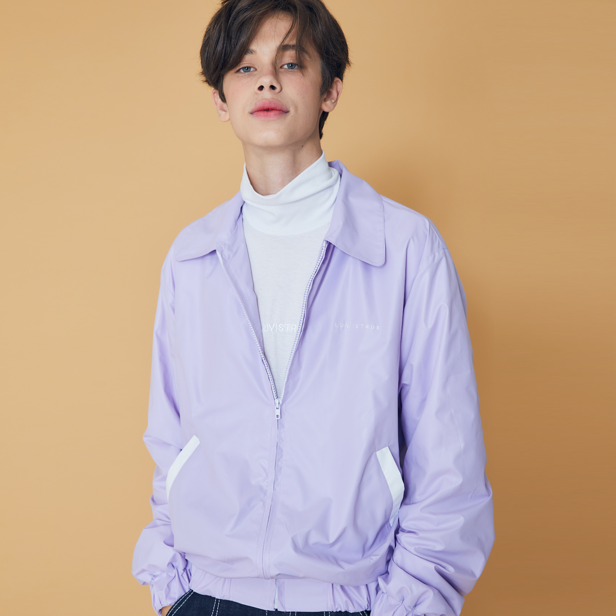 (UNISEX)DS LOGO OVER JACKET(LIGHT PURPLE)