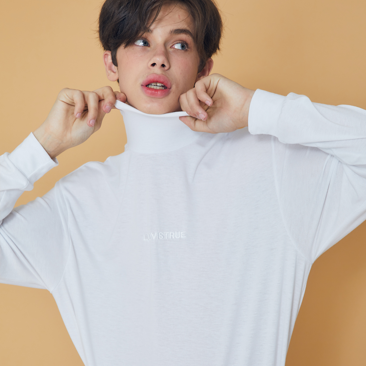 (UNISEX)DS TURTLENECK(WHITE)