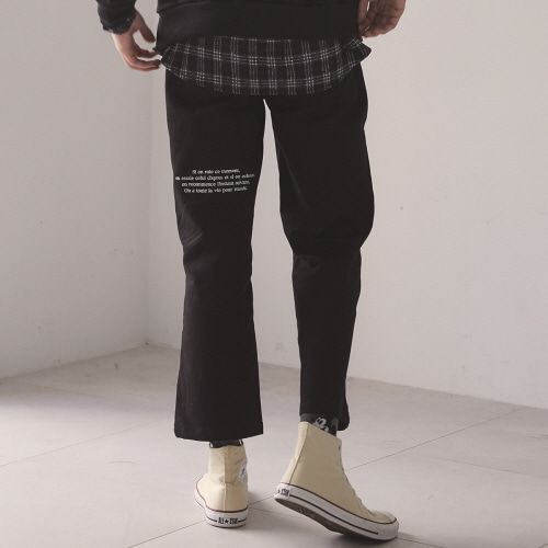(UNISEX)MO COTTON PANTS(BLACK)