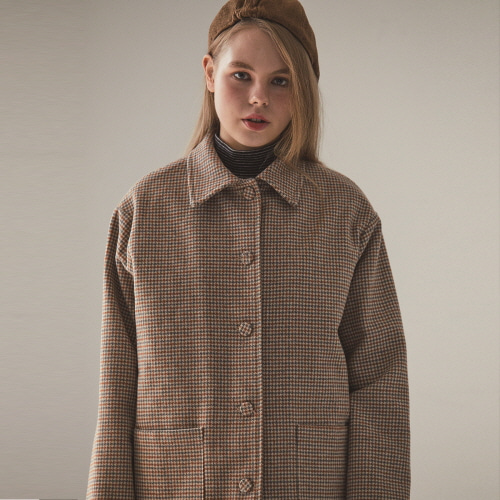 MO CHECK COAT(BEIGE)
