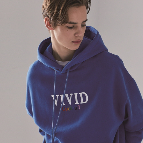 (UNISEX)MO COCKTAIL HOODY(BLUE)